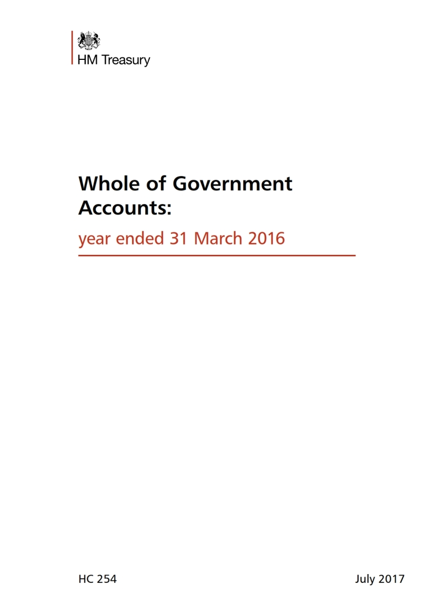 UK Government - Consolidated Financial Statements (Whole of Govt. Accounts)