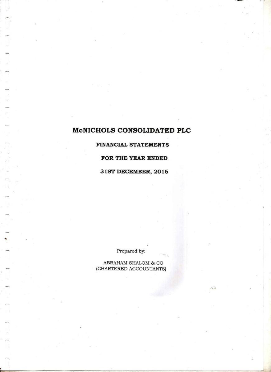 McNichols Consolidated Plc.